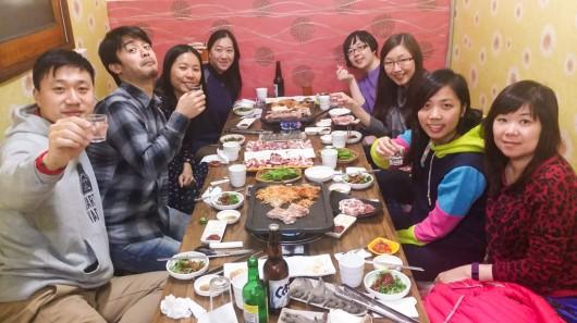 5th Jan 16 – Korean BBQ at Jeju